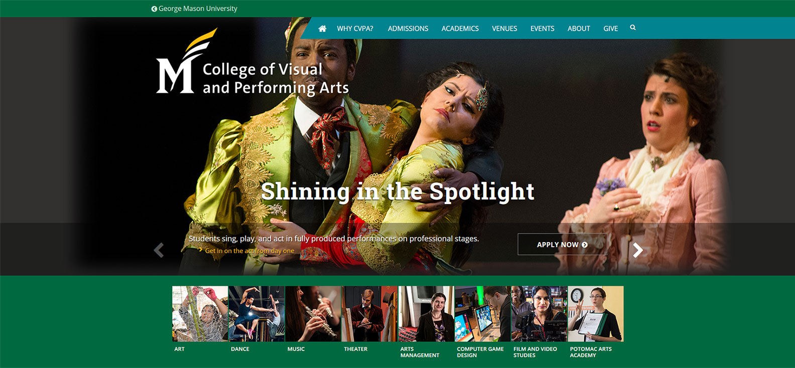 George Mason University, College of Visual and Performing Arts, Virginia