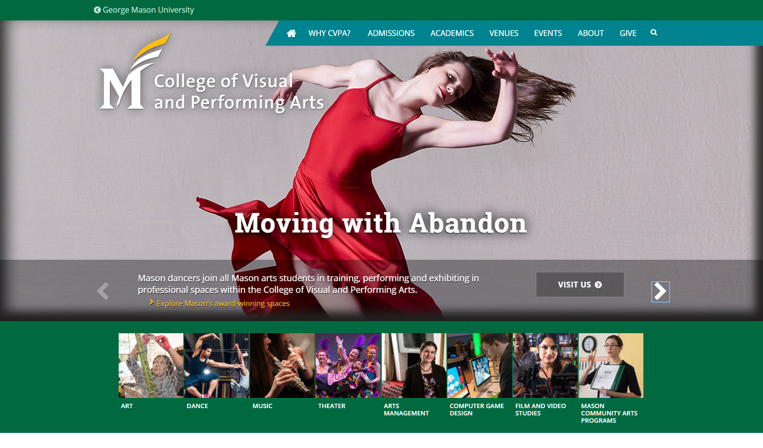 George Mason University CVPA website